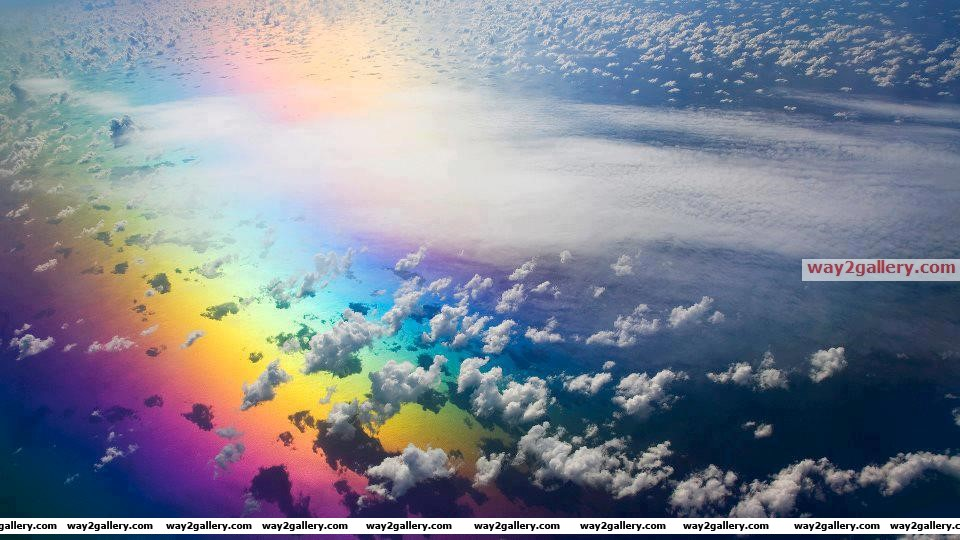 Reflection of a rainbow on the sea