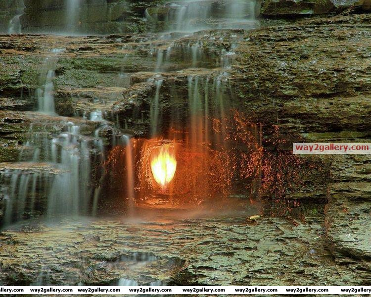 The eternal flame falls