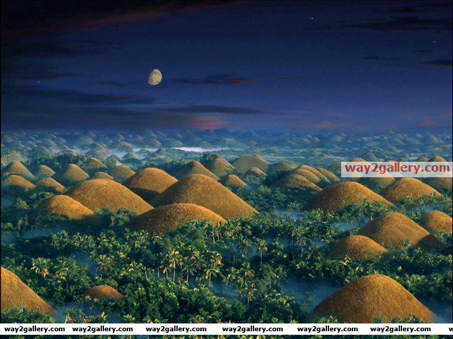 This is real picture. chocolate hills, cebu, philippines
