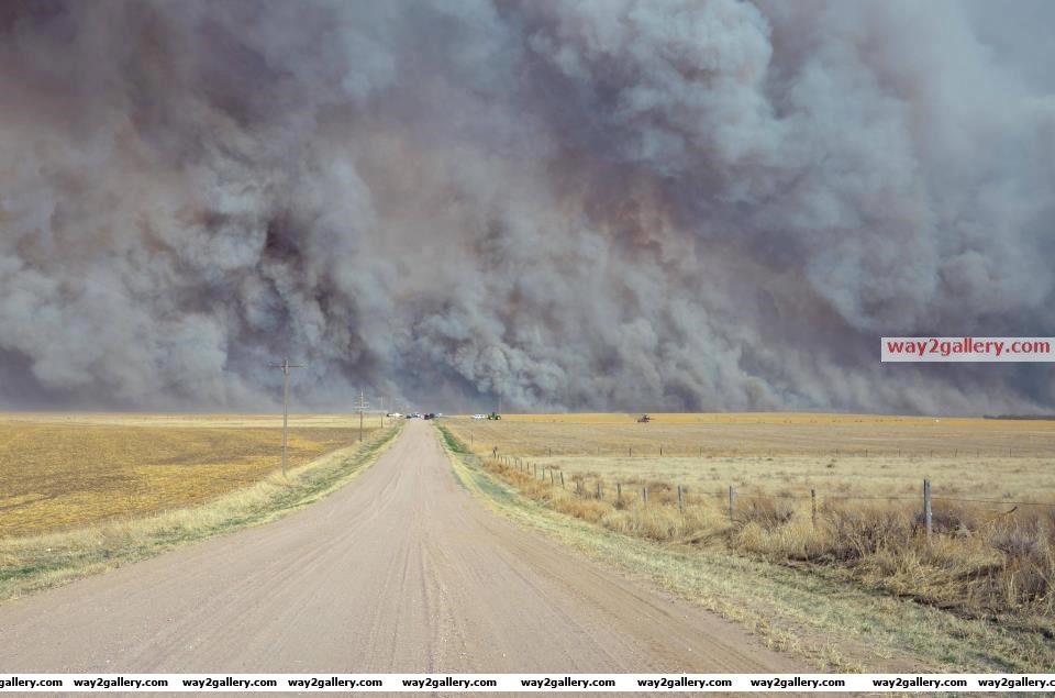 Yuma county, colorado... a wildfire sends up a huge wall of smoke   yuma county, colorado