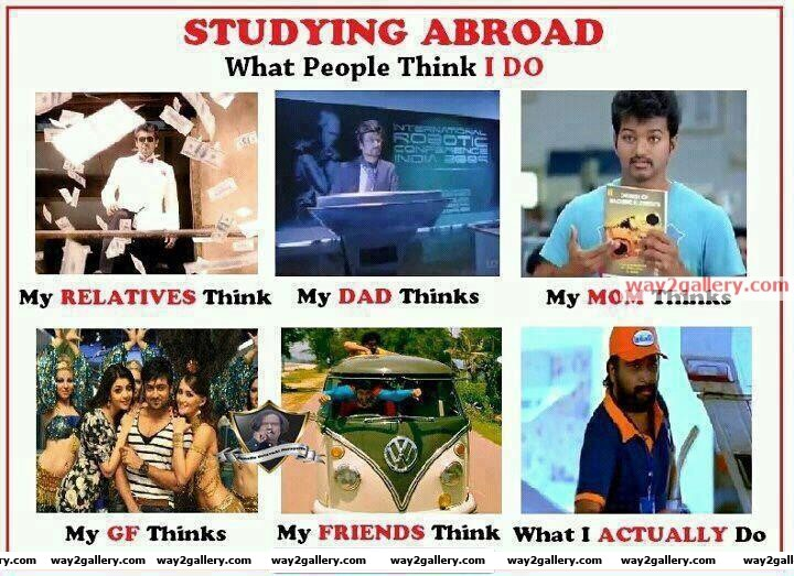 Studying abroad funny