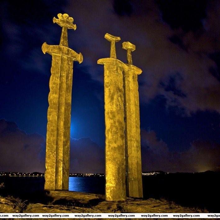15 sverd i fjell giant sword monument in norway