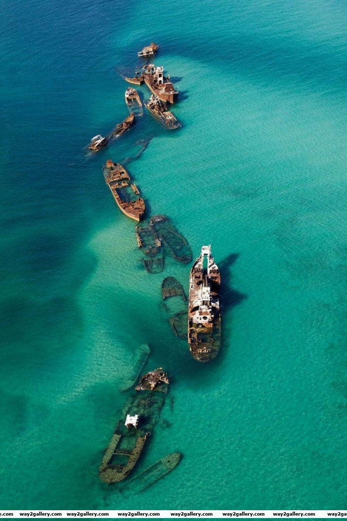 29 moreton island queensland australia it s a man made scuttle structure so boats could have safe anchorage while also providing a neat dive site