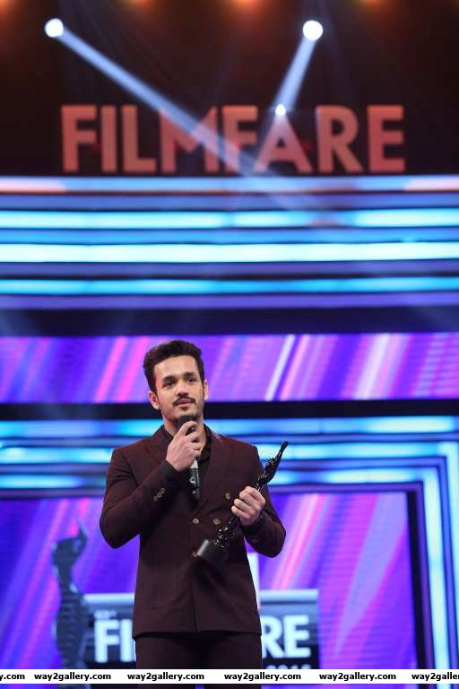 Akhil akkineni shared the best debut male award with g v prakash