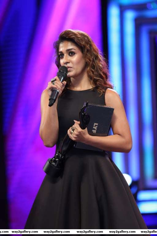 Nayanthara took home the best actress  tamil award for her performance in naanum rowdy dhaan