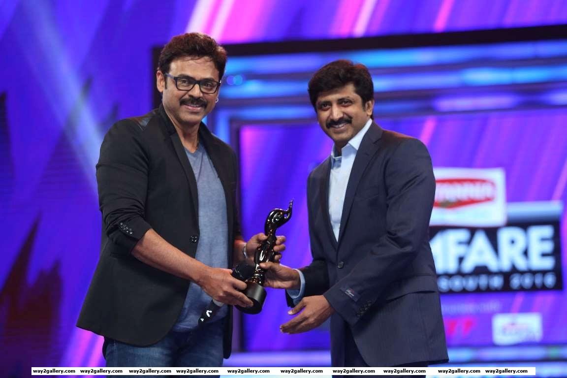 Thani oruvan helmer mohan raja received the best director  tamil award from venkatesh