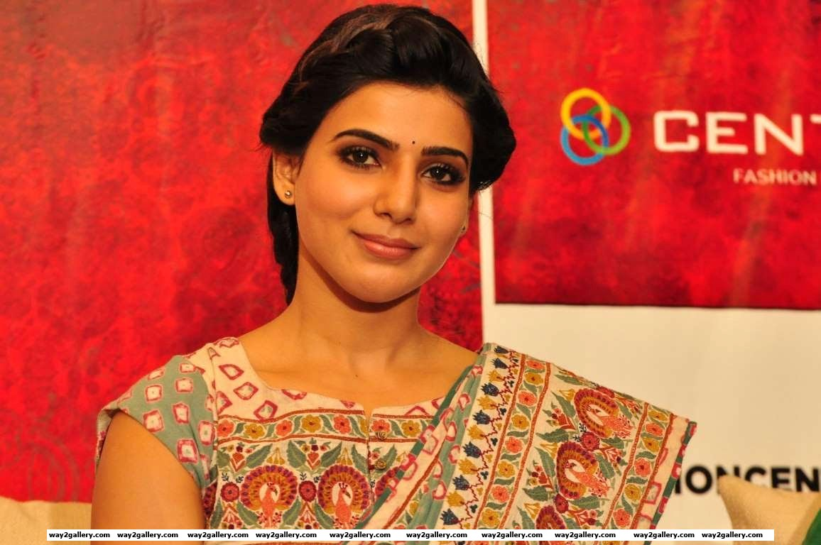 Accompanying Kajal at Centro Brahmotsavam collections launch was Samantha Ruth Prabhu