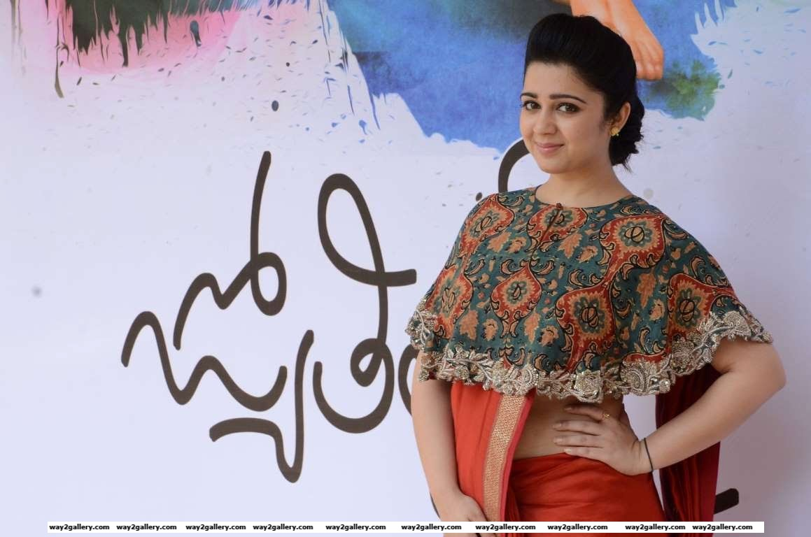 Charmme Kaur posed for the shutterbugs at Jyothi Lakshmi book launch The book is based on the Telugu movie of the same name that starred Charmy