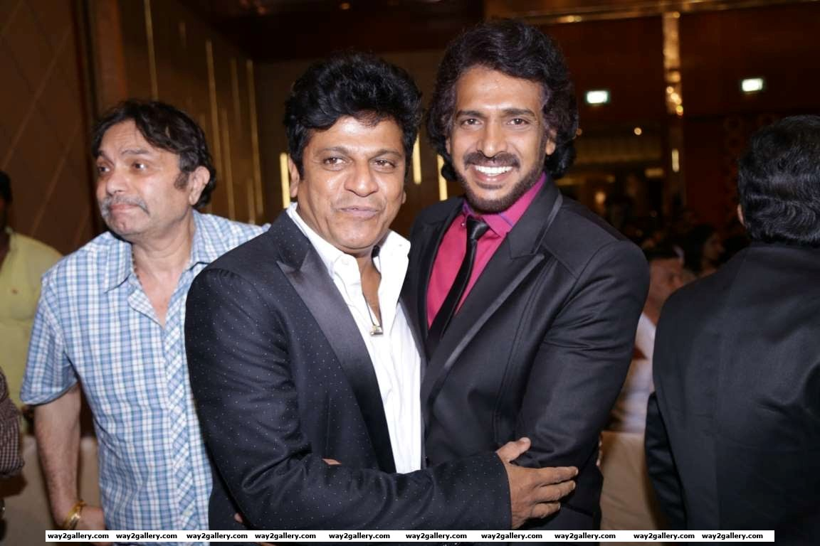 Kannada superstars Shiva Rajkumar and Upendra attended the launch of Kaadhalin Pon Veedhiyil