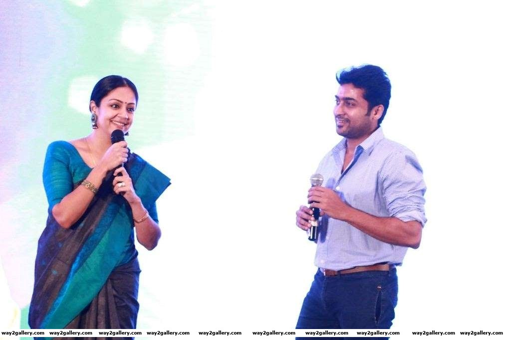 Like Shalini Jyothika too gave up films after marriage She however made a comeback to film in with Vayadhinile They have two children Diya and Dev