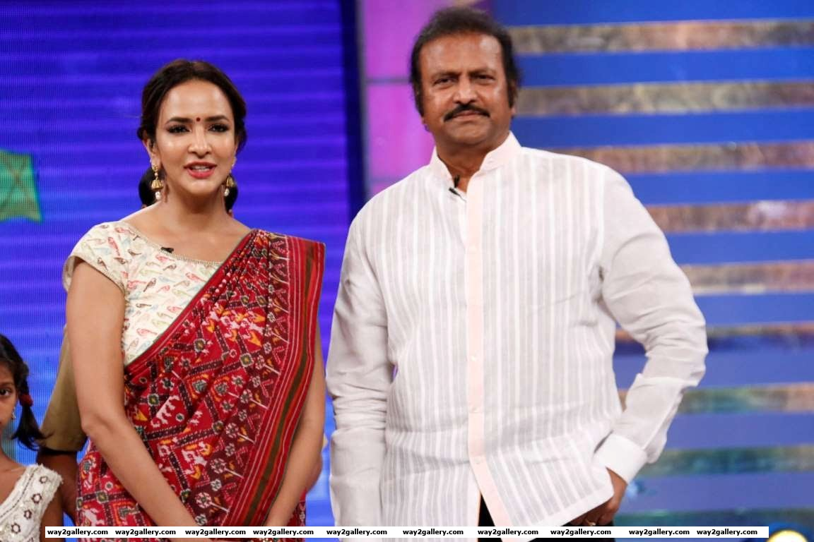 Mohan Babu visited the sets of daughter Lakshmi Manchus TV show Memu Saitham