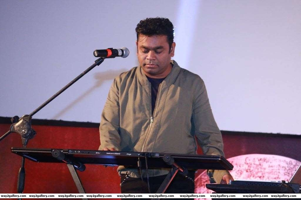 Oscar winning music director A R Rahman performed during the audio launch of