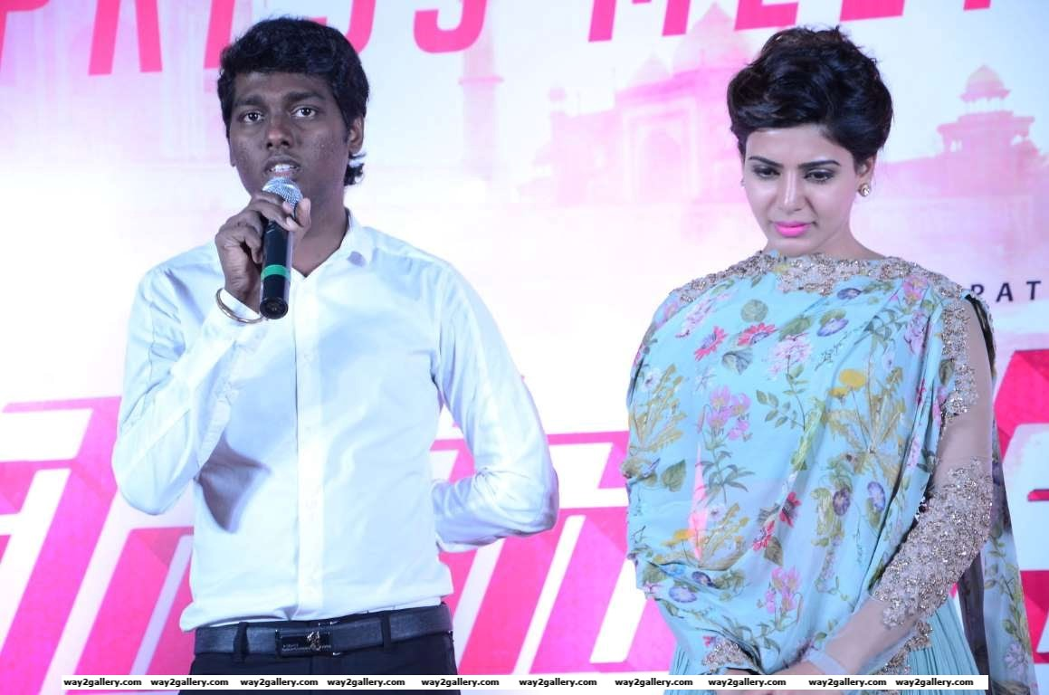 Policeodu director Atlee addresses the media during the press meet