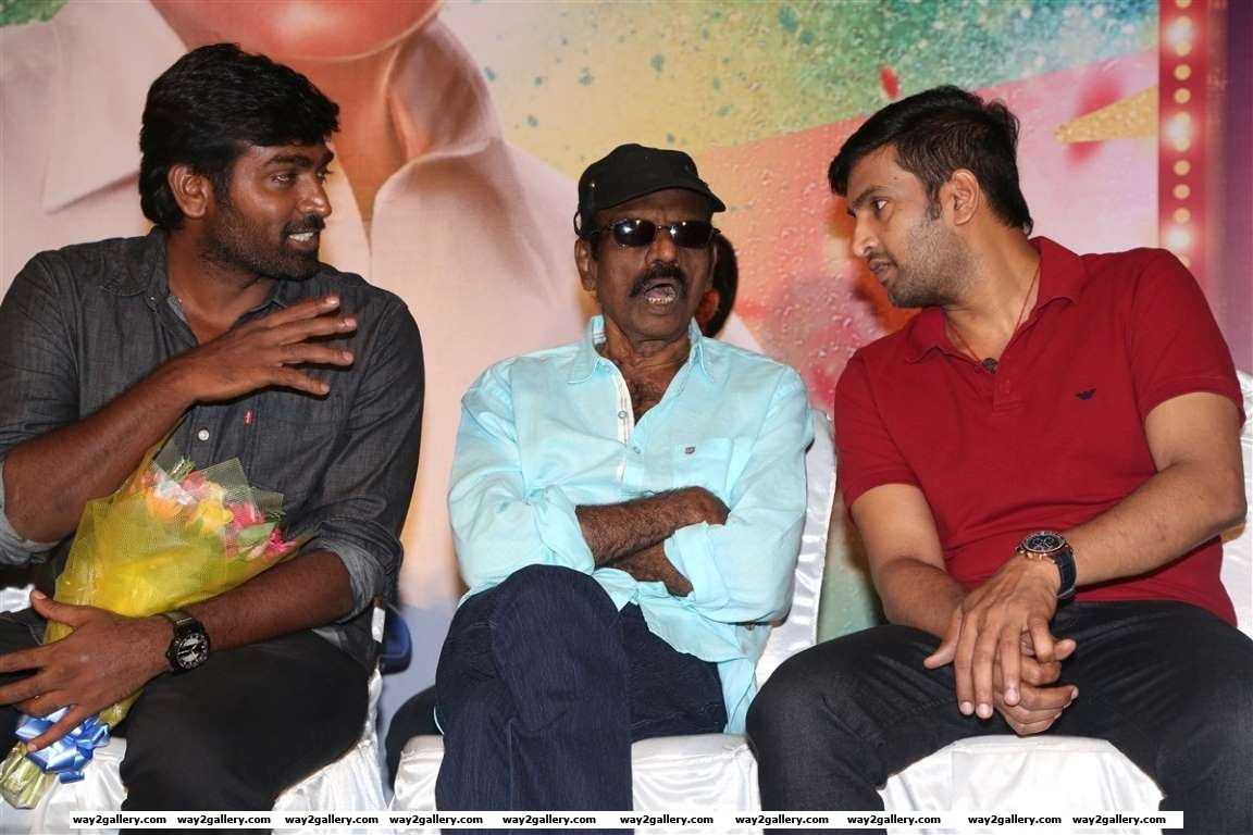 Vijay Sethupathi Goundamani and Santhanam were present at the audio launch of Tamil film Enakku Veru Yengum Kilaigal Kidaiyathu
