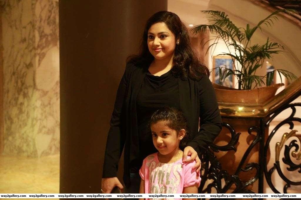 We spotted Meena and daughter Nainika at the press meet of Theri