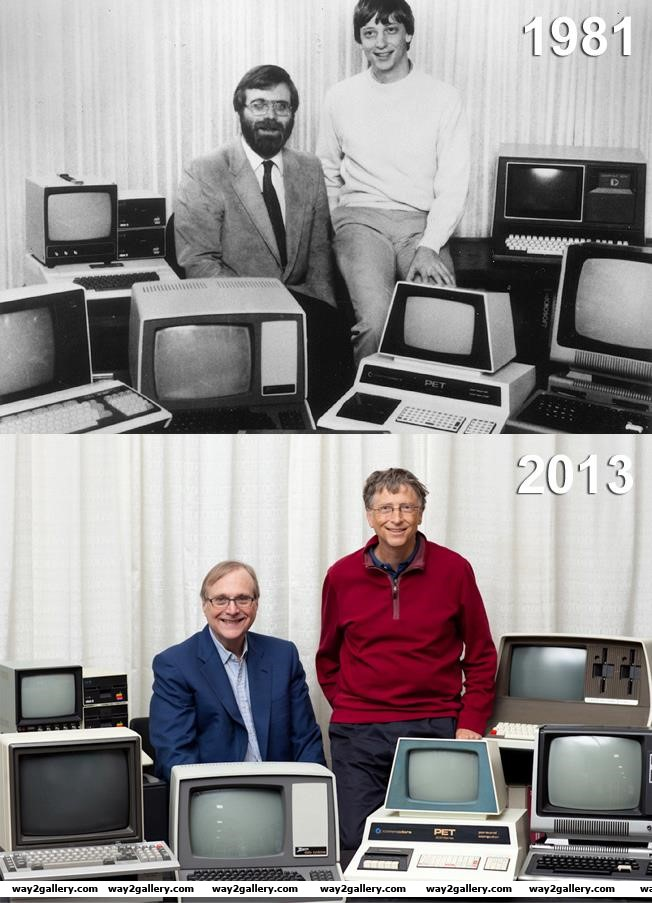 Amazing pics amazing pictures amazing photos bill gates paul allen 1981 microsoft photo microsoft technology