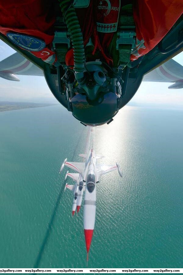 Awesome photo of the canadian aerobatic team taking a selfie
