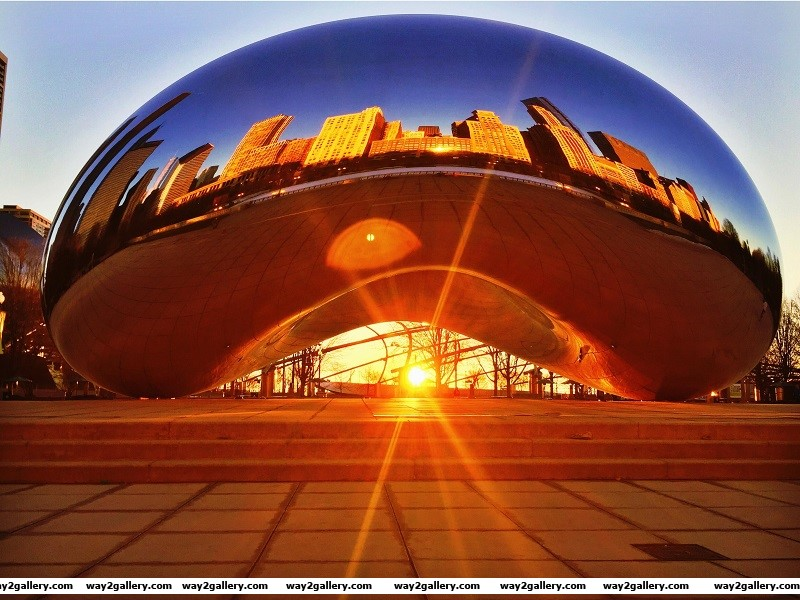 Beautiful photo of the famous bean in chicago usa
