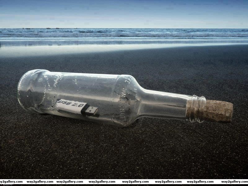 Check out this message in a bottle 2014 style