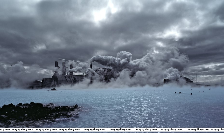 Check out this stunning photo of a geothermal power plant in iceland