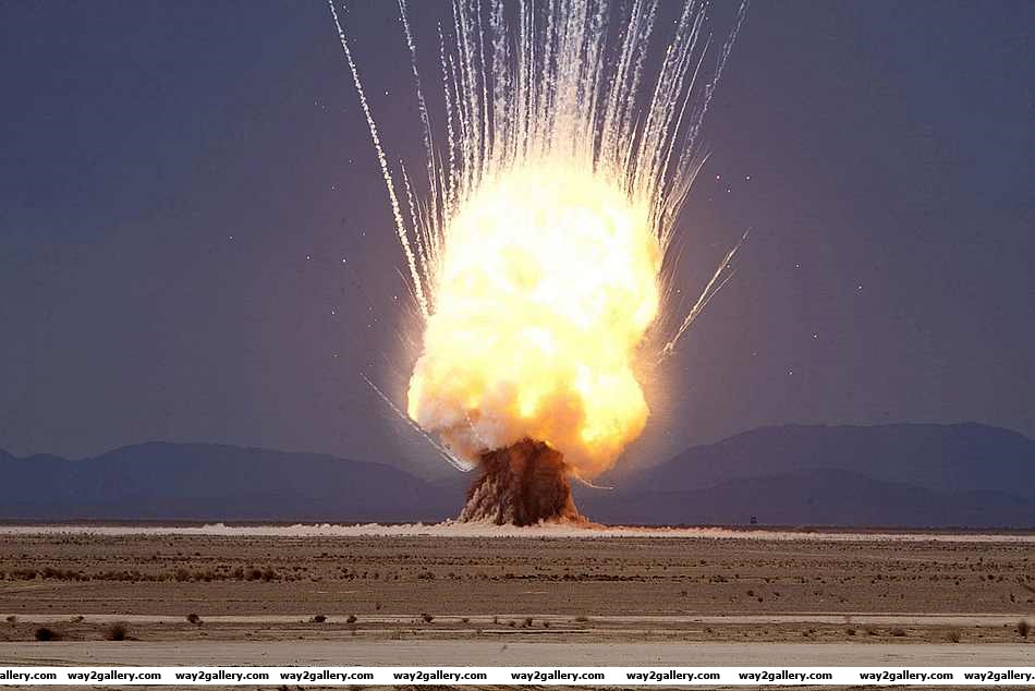 Explosive photo of 7200 pounds of unusable explosives are detonated near camp leatherneck in afghanistan