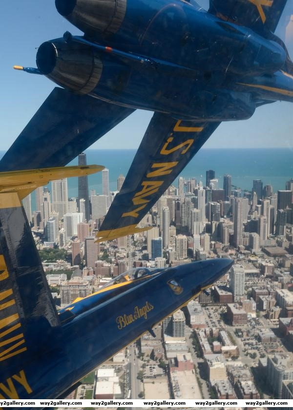 This is how close the blue angels fly together chicago usa