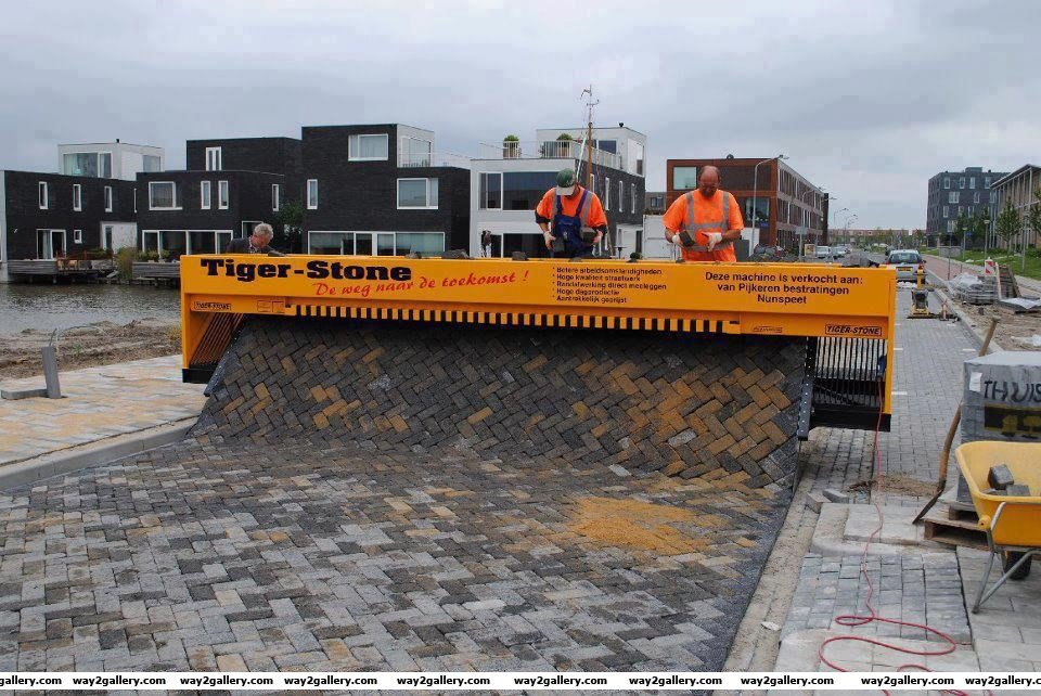 Tiger stone paving machine tiger stone paving machine tiger stone machine amazing technology amazing pictures